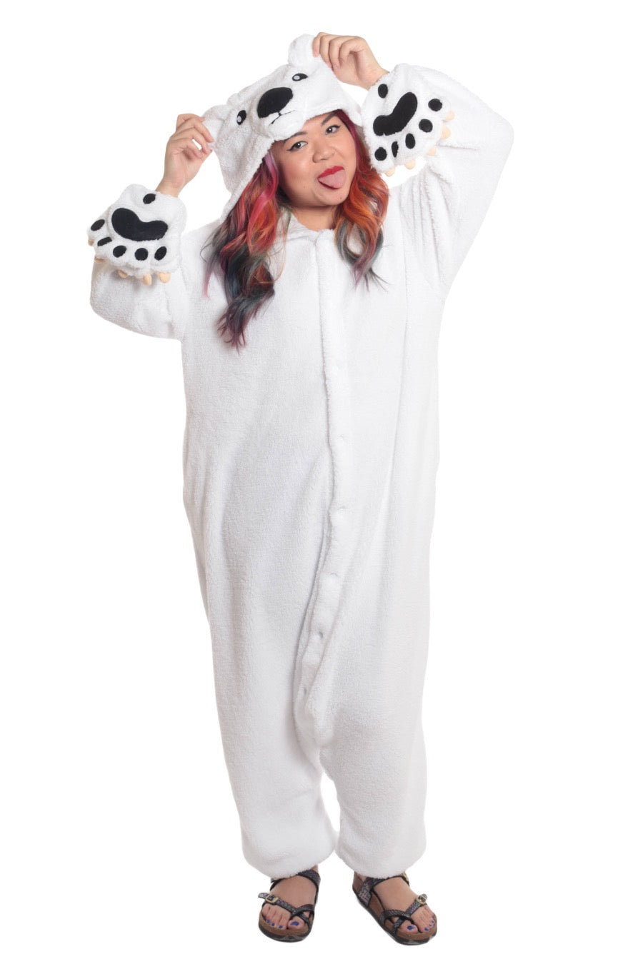 Polar Bear Animal Kigurumi Adult Onesie Costume Pajamas Main