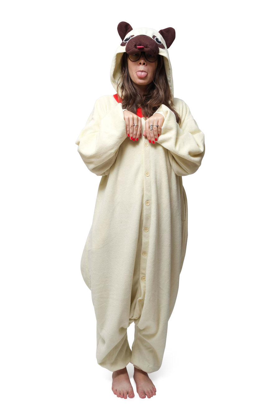 Pug Animal Kigurumi Adult Onesie Costume Pajamas Main