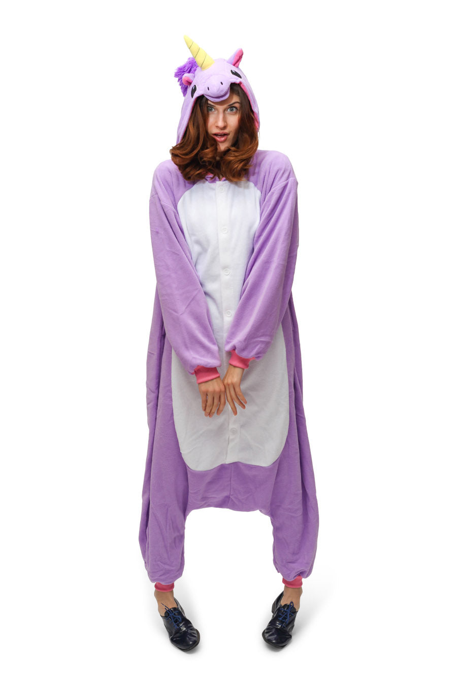 Purple Unicorn Animal Kigurumi Adult Onesie Costume Pajamas Main