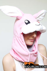 Rabbit Kigurumi Neckwarmer Hood Animal Costume Adult