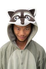 Raccoon Animal Kigurumi Adult Onesie Costume Pajamas Hood