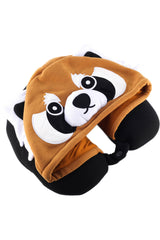 Red Panda Kigurumi Neck Pillow Hoodie Travel Accessory Apparel