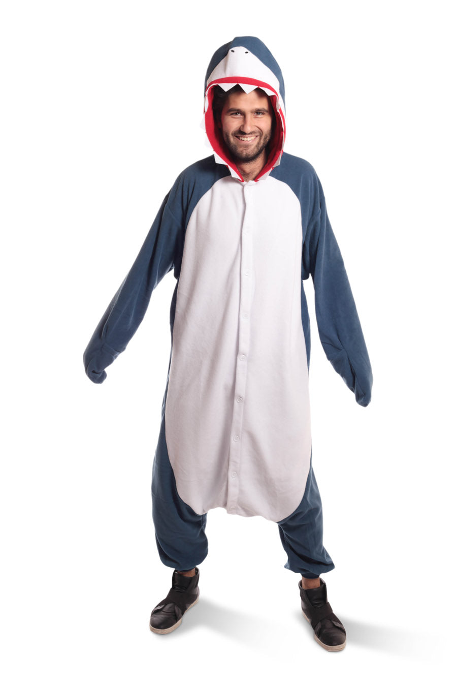 Shark X-Tall Animal Kigurumi Adult Onesie Costume Pajamas Blue Navy Main