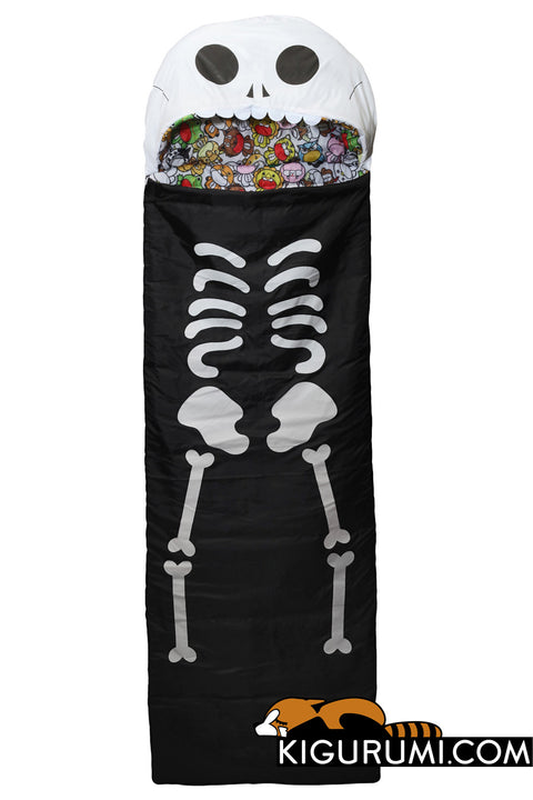 Skeleton Sleeping Bag Kigurumi Camping One Size Adult