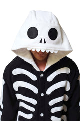 Skeleton Animal Kigurumi Adult Onesie Costume Pajamas Hood