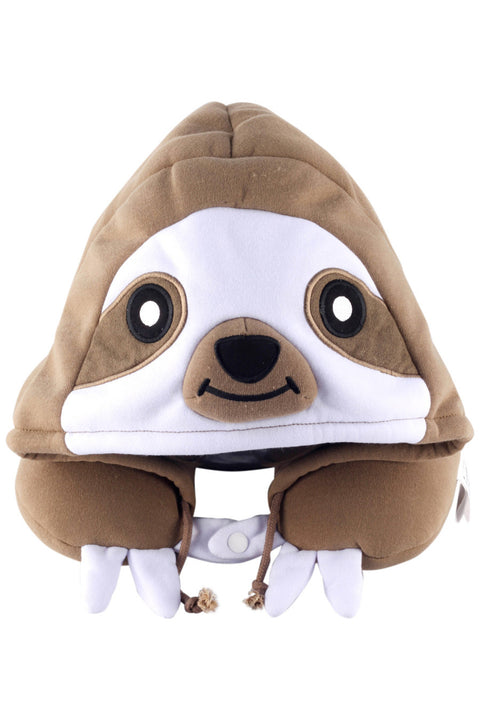 Sloth Kigurumi Neck Pillow Animal Travel Hoodie