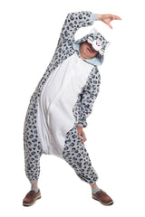 Snow Leopard Animal Kigurumi Adult Onesie Costume Pajamas Main Seconary