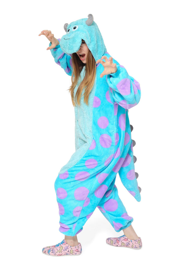 Sulley Character Kigurumi Adult Onesie Costume Pajamas Main
