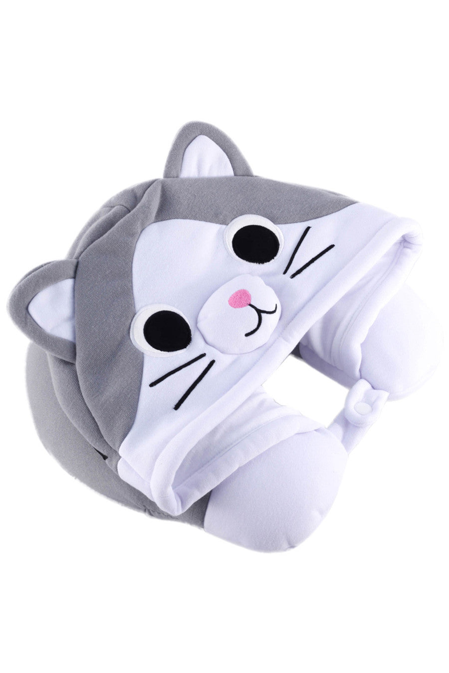 Tabby Cat Kigurumi Neck Pillow Animal Travel Hoodie