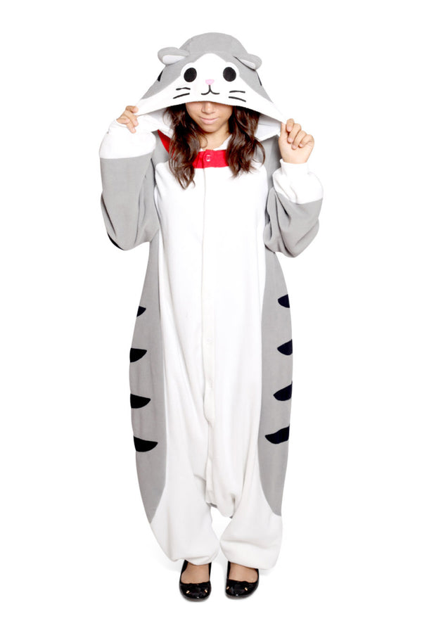 Tabby Cat Animal Kigurumi Adult Onesie Costume Pajamas Main