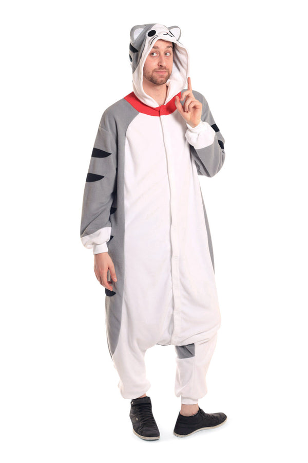 Tabby Cat X-Tall Animal Kigurumi Adult Onesie Costume Pajamas Main