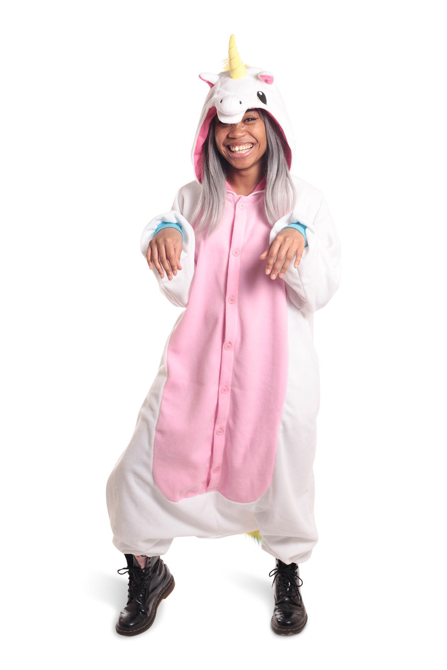 White Unicorn Animal Kigurumi Adult Onesie Costume Pajamas Main