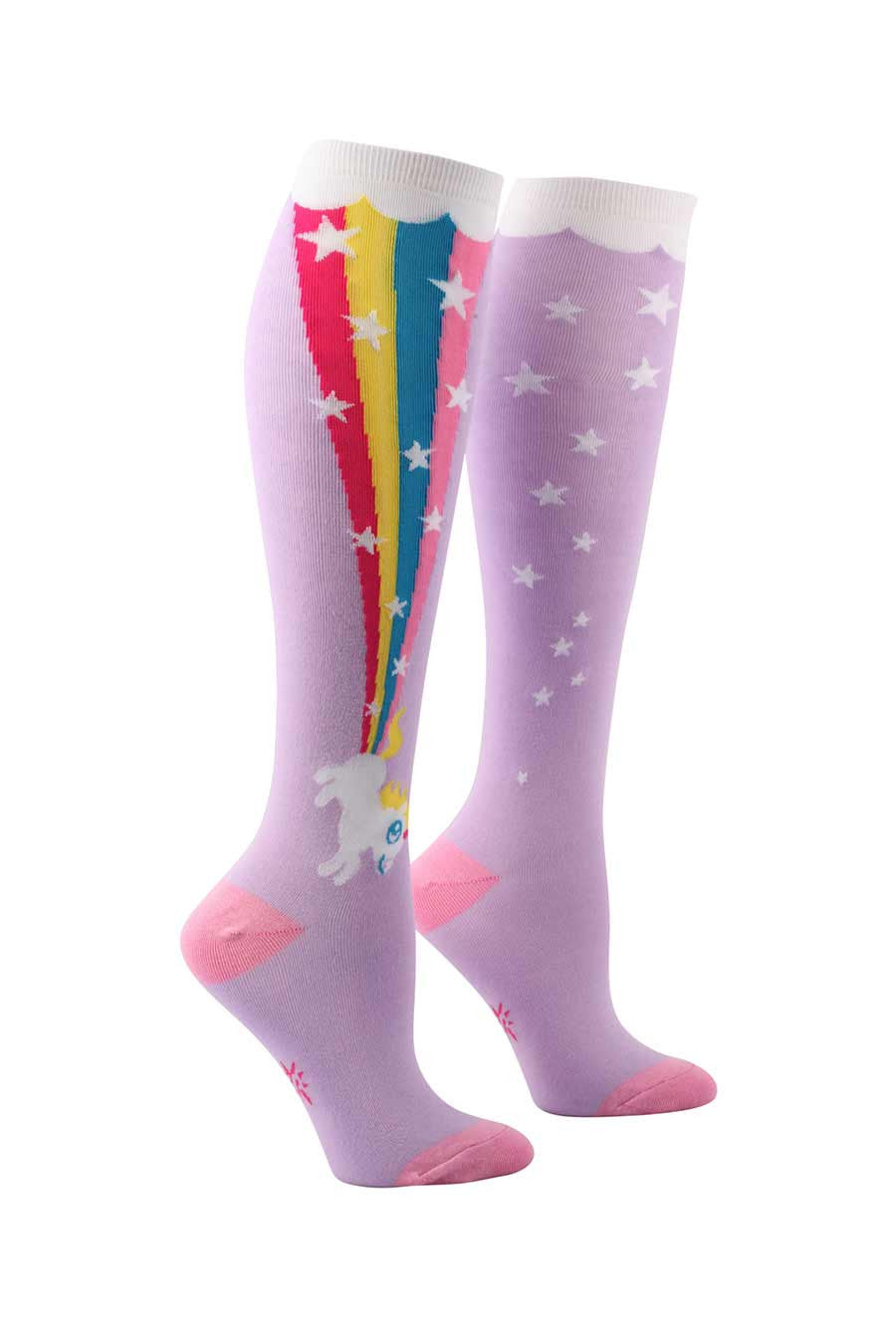 Pastel Unicorn Rainbow Blast Knee Socks