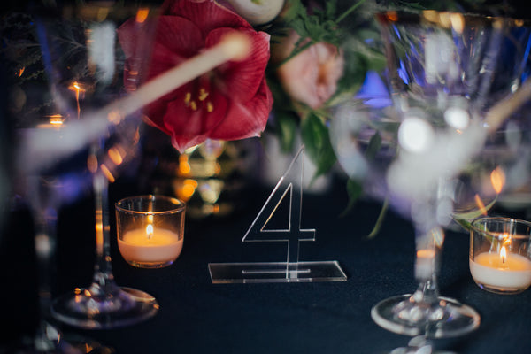 art deco table number for wedding reception