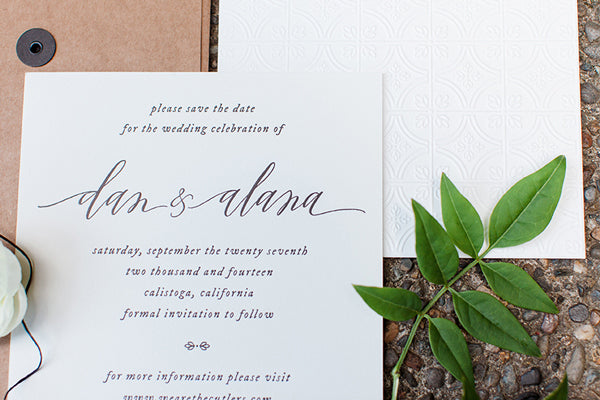 simple square wedding invitations