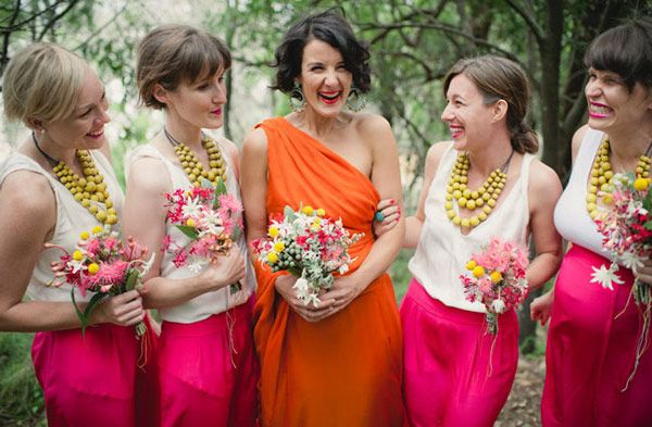 Bright and Bold wedding color combinations