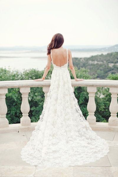 Statement back wedding dress