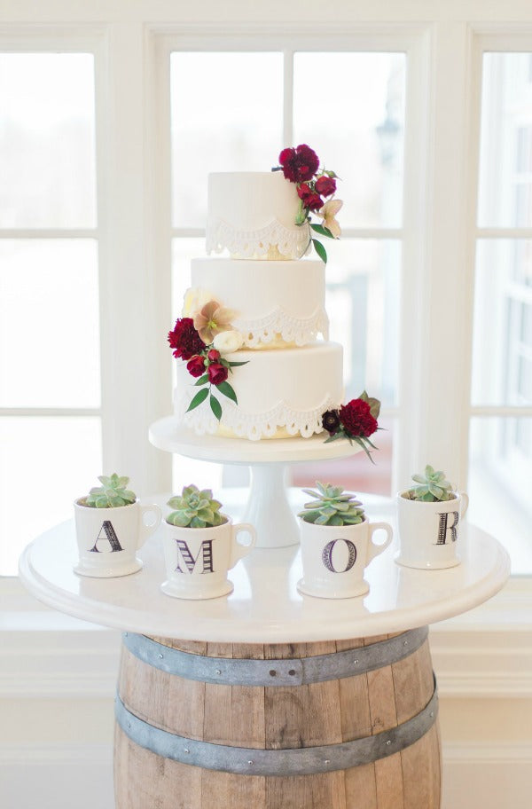 Elegant Latin Hacienda wedding cake table