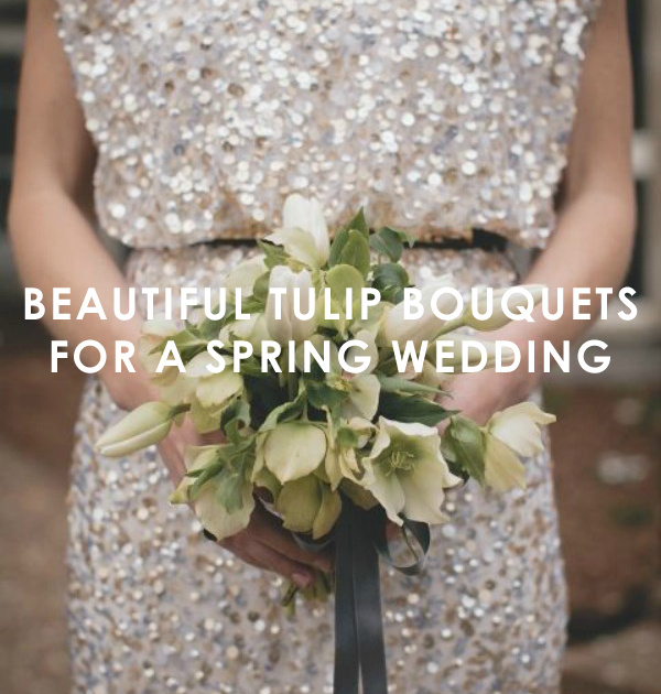 Spring Wedding Bouquets with Tulips