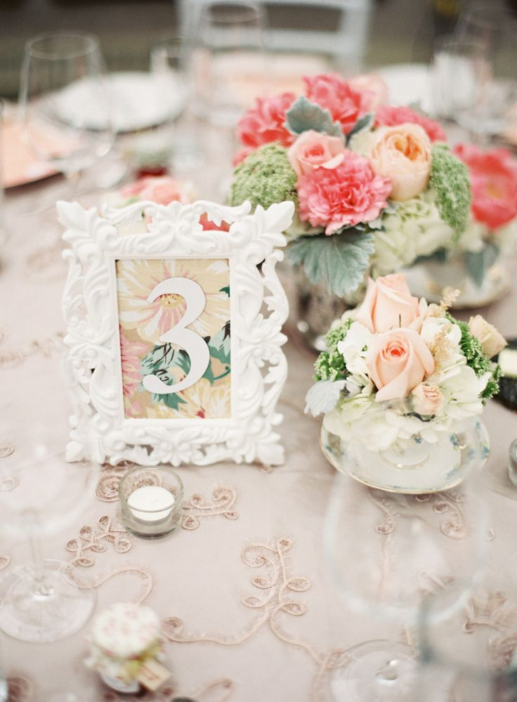 creative framed table number
