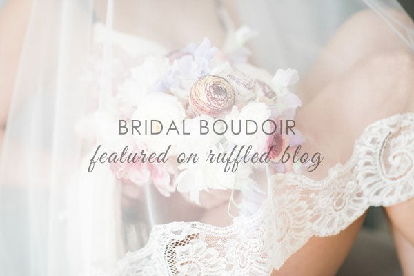 bridal boudoir with mantilla veil