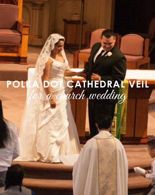 Polka Dot Veil with Lace Trim