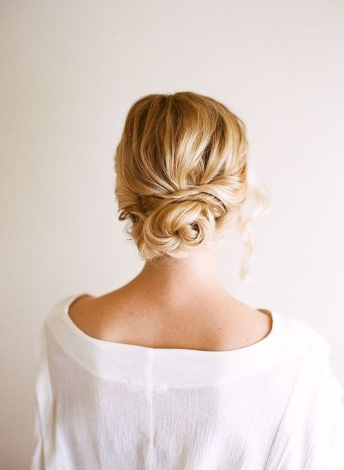 Perfect Updo for a Mantilla