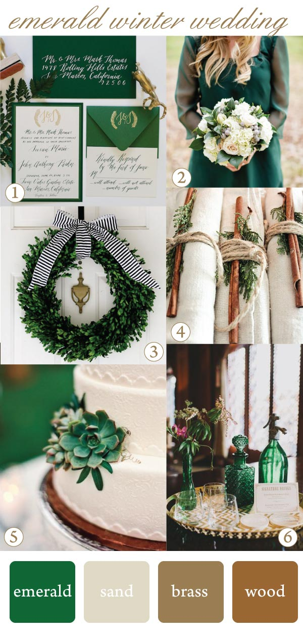 How to use emerald for a winter wedding