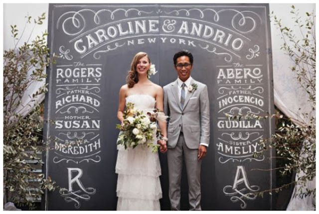 diy wedding photobooth with blackboard paint