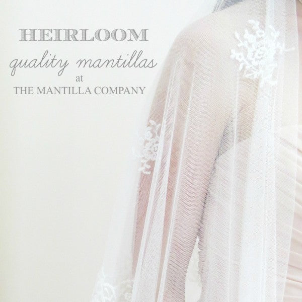 Heirloom Quality Mantilla Bridal Veils