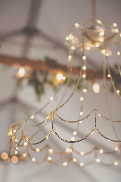 Boho Chic chandelier for wedding