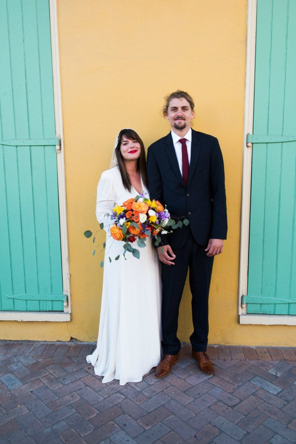 colorful new orleans french quarter wedding
