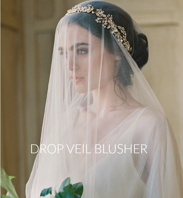 Wedding Veils Difference Between A Drop Veil Blusher And