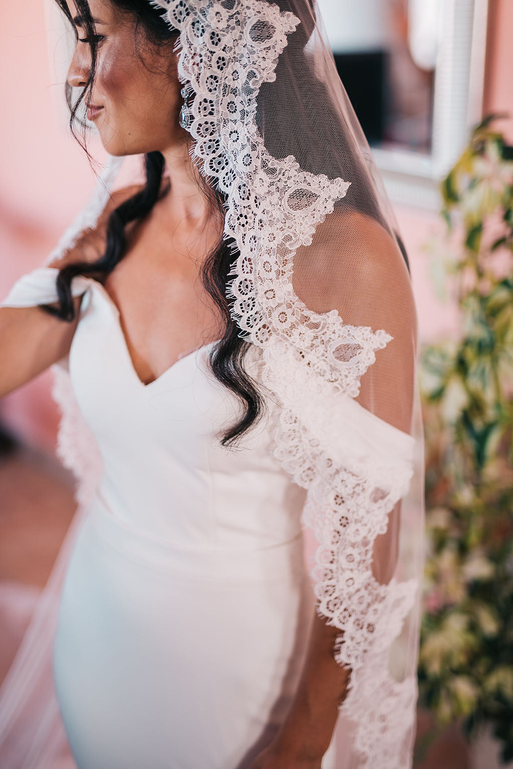real bride from The Mantilla Company