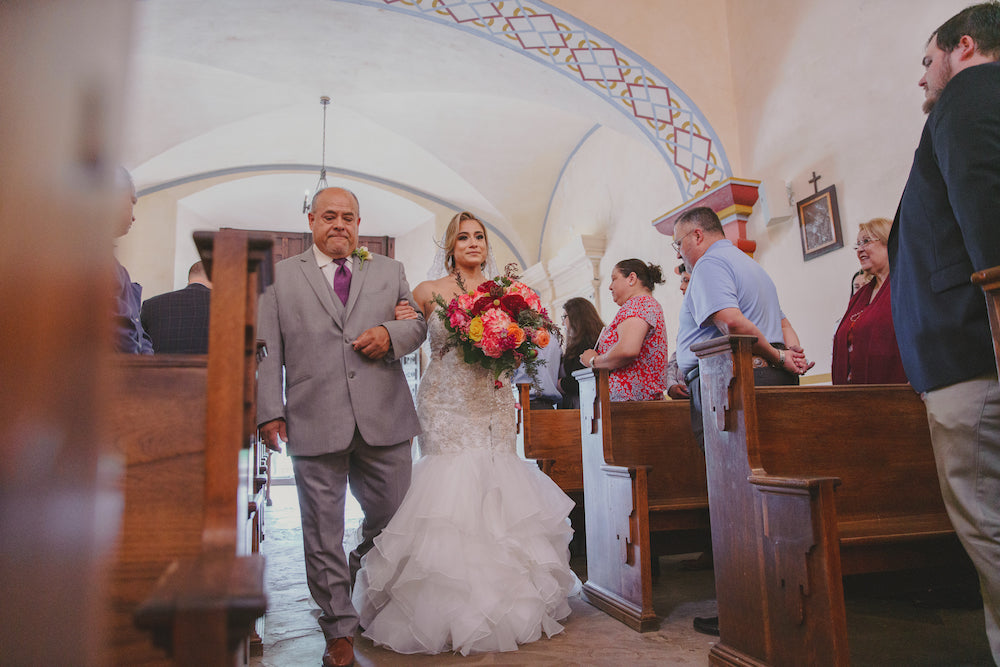 mexican style cathedral wedding