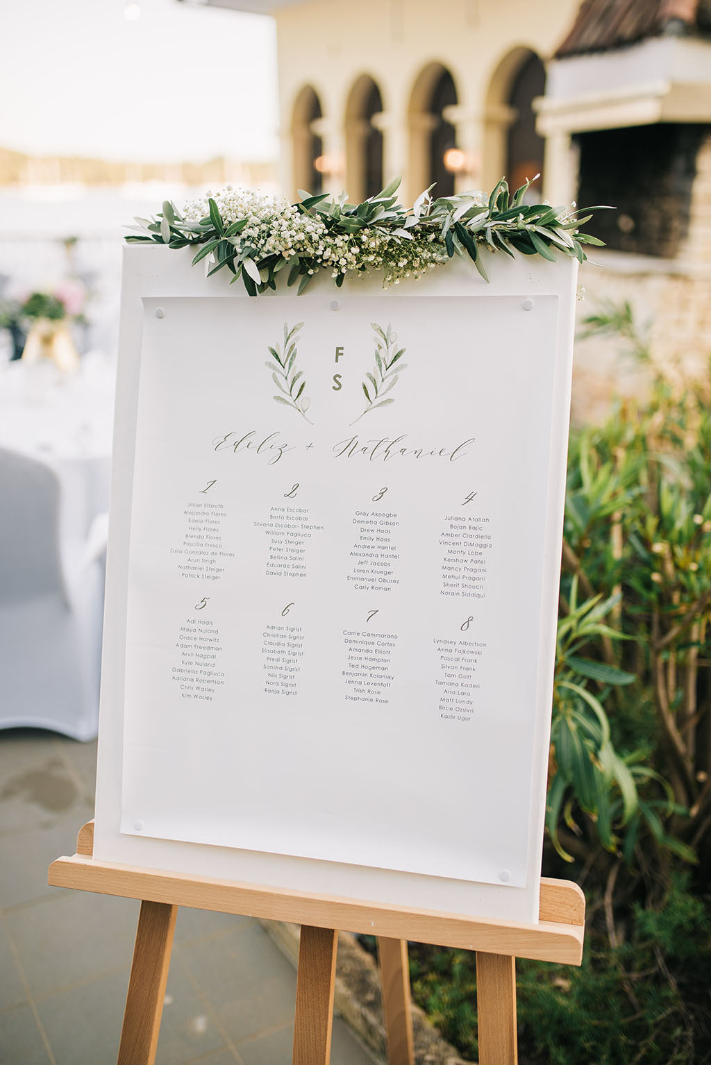 olive branch seating chart elegant