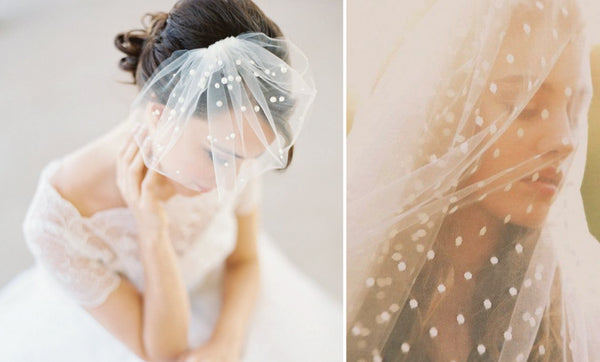 bird cage polka dot veil