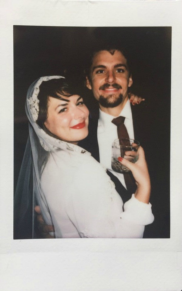 retro poloriod pictures at wedding
