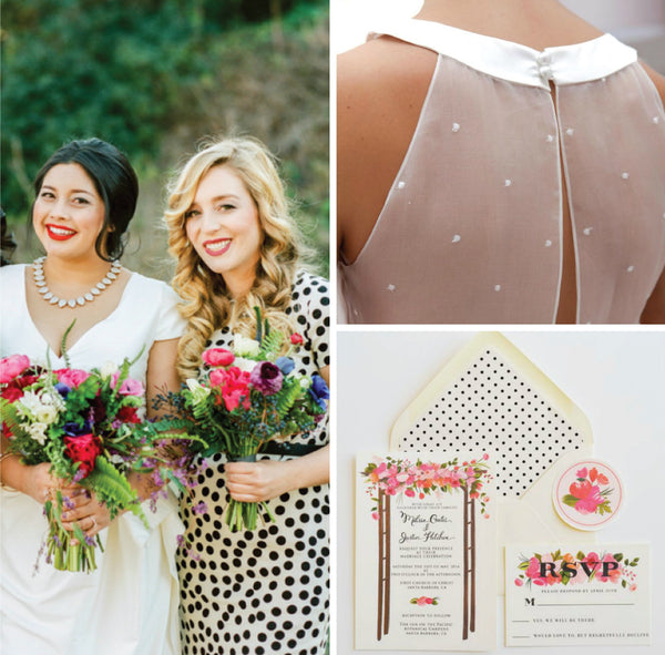 wedding board inspiration for polka dot wedding