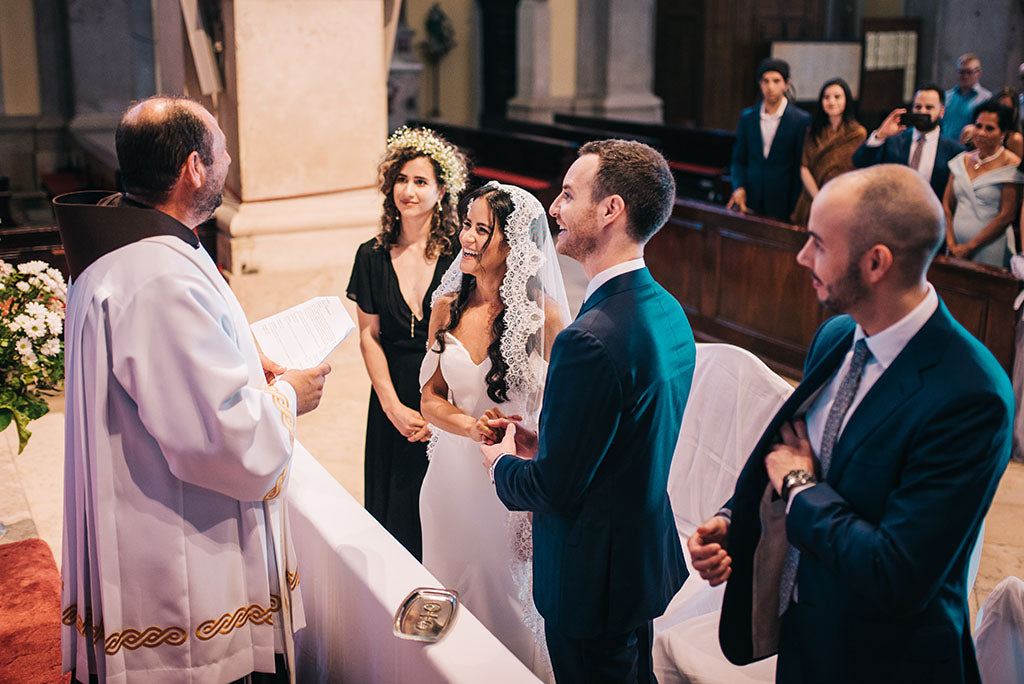 catholic wedding in croatia mantilla veil