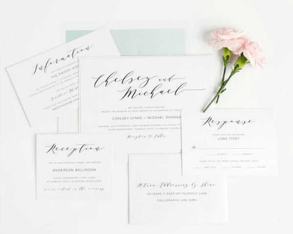 10 Simple and Classic Wedding Invitations