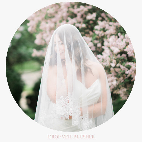 mantilla wedding veil cathedral length with rose lace drop veil