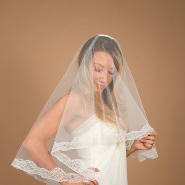 Magdalena Cathedral Veil with Drop-veil Blusher
