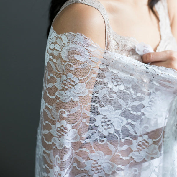 spanish lace mantilla veil available in ivory and white