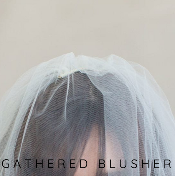 Juliana Floor Length Veil with Gathered Blusher