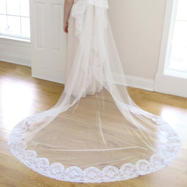 cathedral length mantilla bridal veil