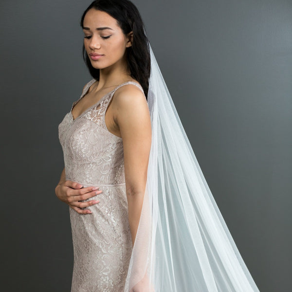 veil without blusher soft tulle