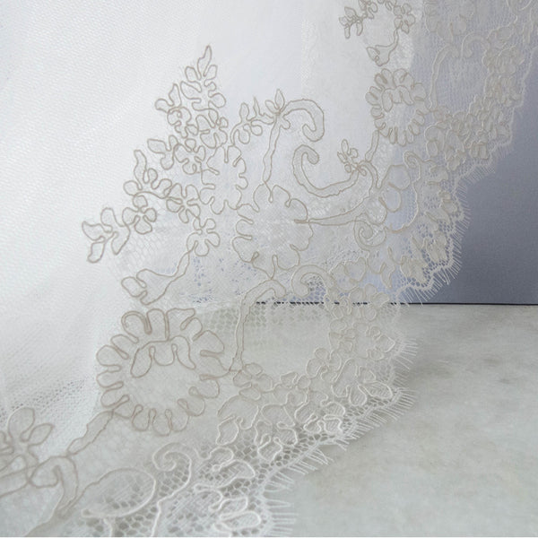 Marisol Ivory Lace Cathedral Veil