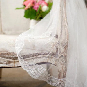 mantilla veil cathedral length ivory