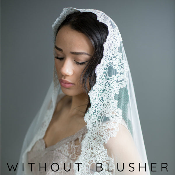 mantilla veil without blusher